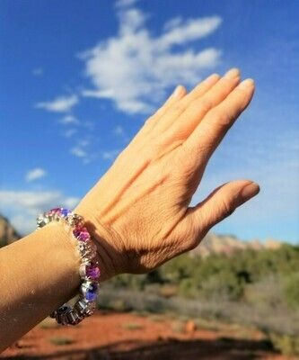 Devic Crystal LOVE Technology Bracelets/Sister of the Sacred Rose Priestess Lavender $88.00/ $133.00 retreat sale