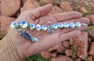 Devic Crystal LOVE Technology Bracelet/Stunning Goddess Isis Cosmic Wings of Light $122.00/$188.00 Goddess retreat Sale