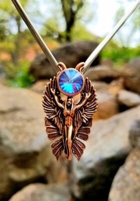WA HE AH Red Sedona Copper/Goddess Fairy Angel Deva/Retreat Fairy sale$199/$313