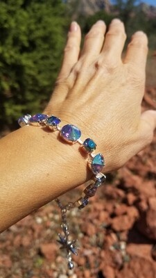 Gorgeous Pleiadian of Peace Priestess/Devic Crystal LOVE Bracelet $144/$188 Retreat Sale