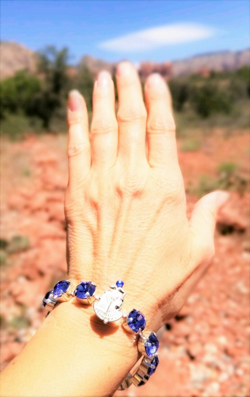 Beautiful Goddess Isis Violet  Light of Transformation/Devic Crystal LOVE Technology Bracelet/$144.00/$188. Goddess retreat Sale