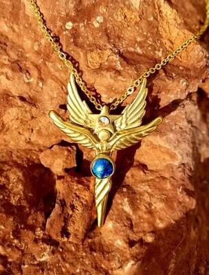 Beautiful Sedona World Peace Star Angel/Gold Copper/Angel sale $233.00/288.00