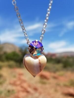Sedona Sacred Heart White Light Golden crystal of Mother Earth Gaia retreat sale$233/333.00