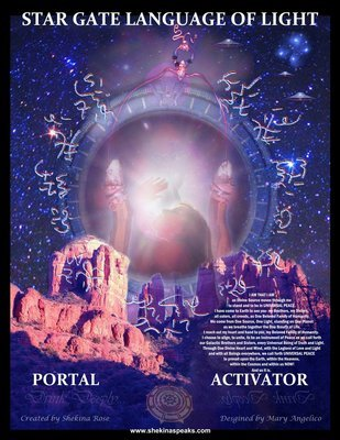 Sedona STAR GATE LANGUAGE OF LIGHT  Activator/Pleiadain Peace Portal instant Download/includes Language of Light transmission Crystal heart Pleiadian song Retreat/$15/$20.00