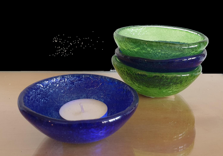 Royal Blue Fused Glass Bowl