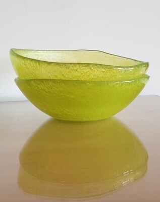 Lime Green Small Fused Glass Bowl