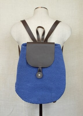 Small Backpack: Jeans Blue