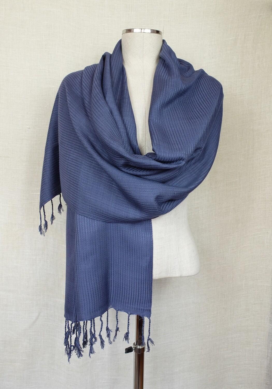 Dafayer Grey Blue Shawl