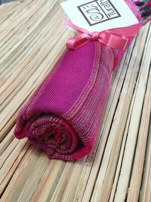 Fuchsia & Purple Wide Stripes Small Scarf