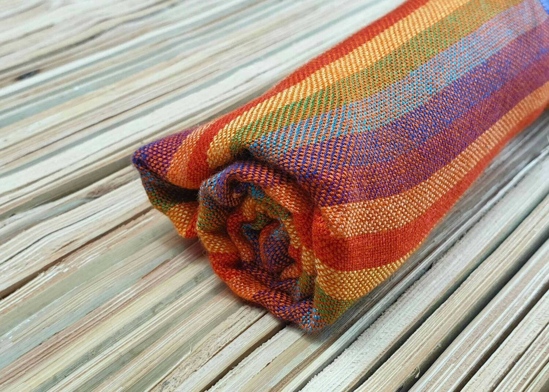 Orange Rainbow Stripes Small Scarf
