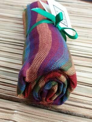 Dark Rainbow Stripes (Burgundy Hue) Small Scarf