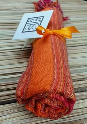 Fuchsia & Orange Wide Stripes (Orange Hue) Small Scarf