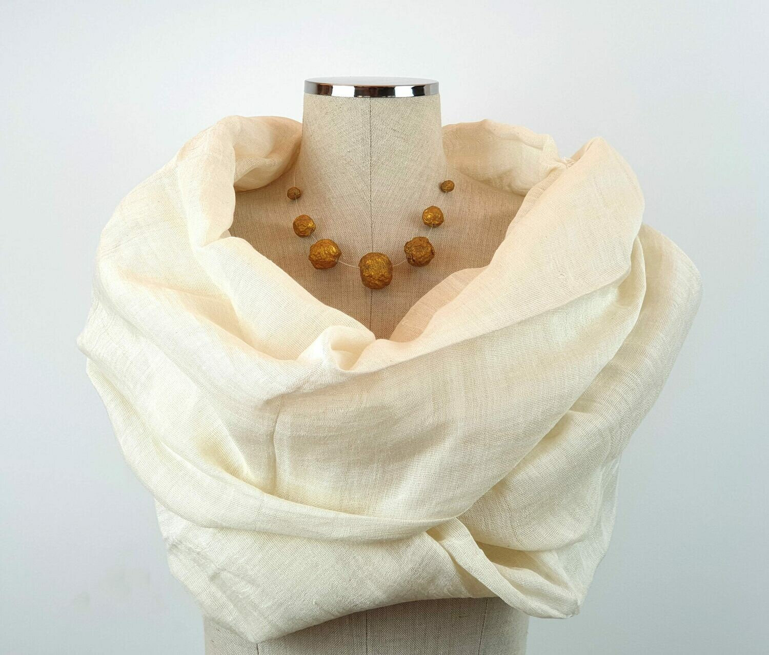 Linen Shawl: Off-White