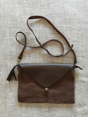Clutch Bag: Chocolate Brown