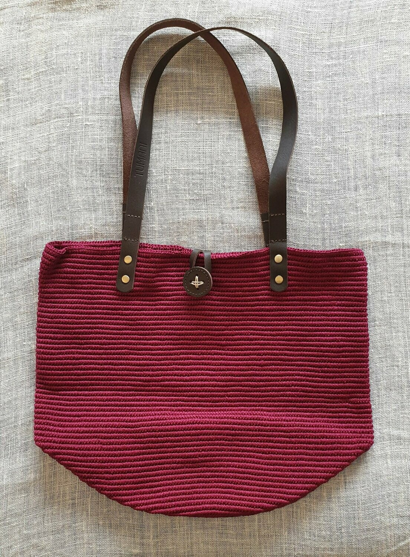 Shoulder Bag: Burgundy