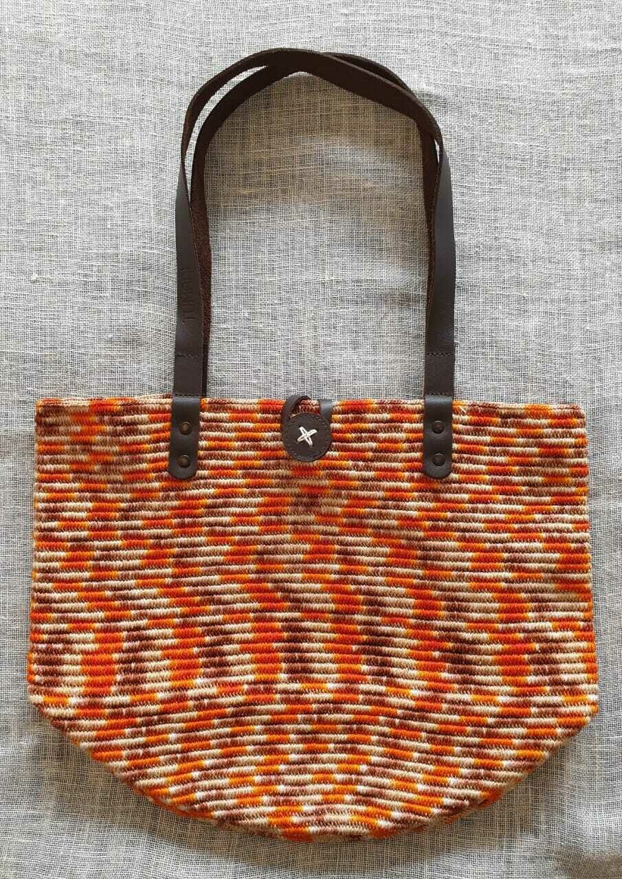 Shoulder Bag: Orange Mix