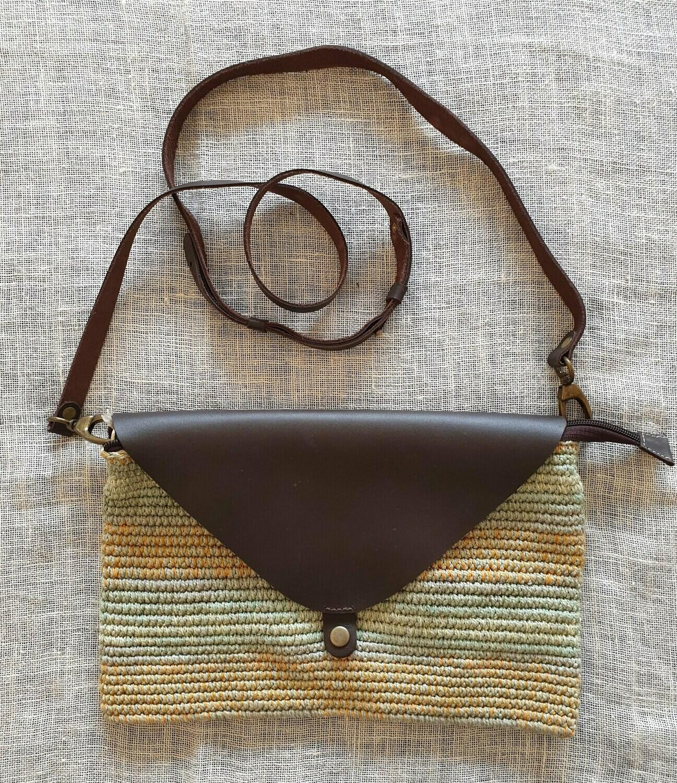Clutch Bag: Yellow & Pistachio