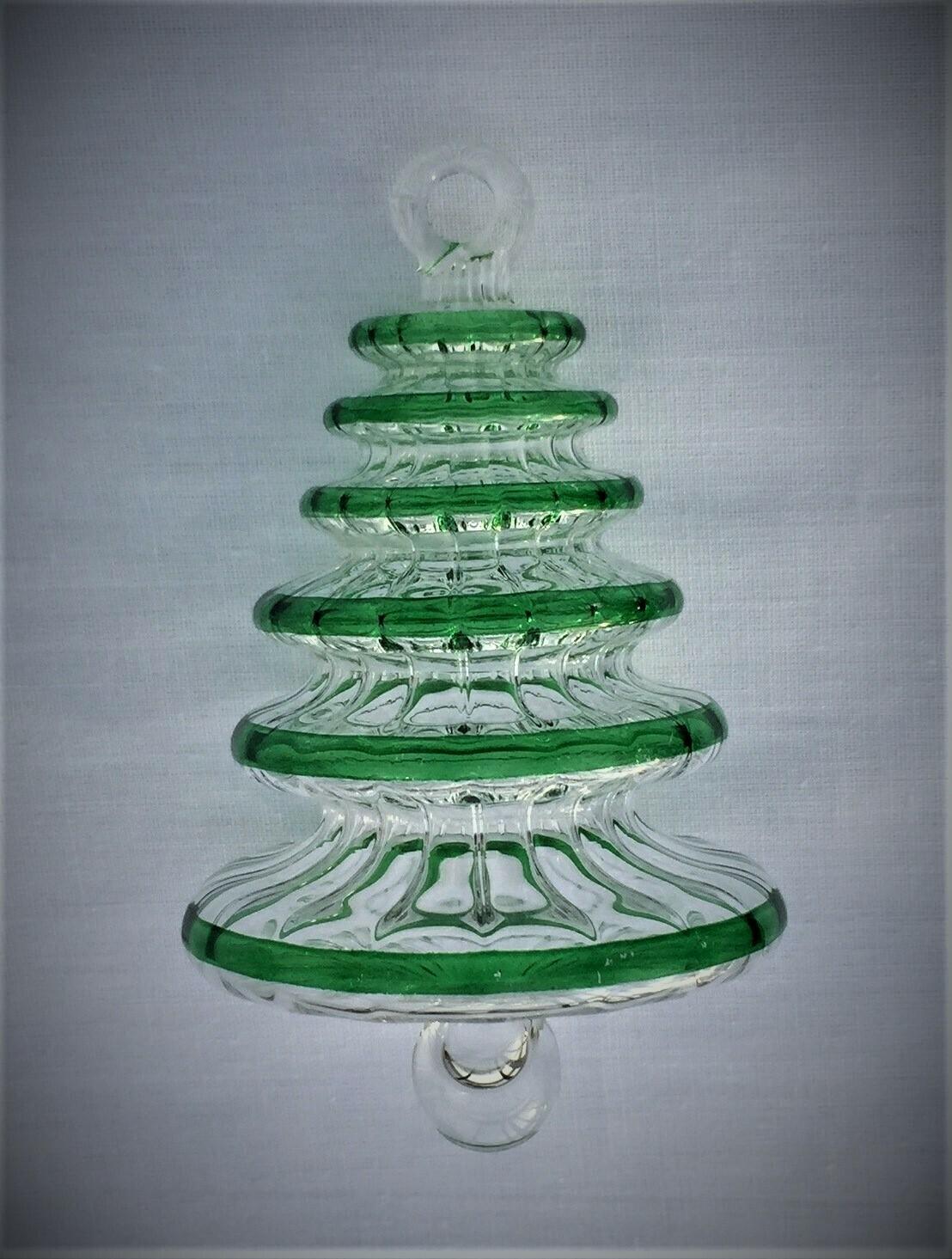 Green Tree Glass Ornament