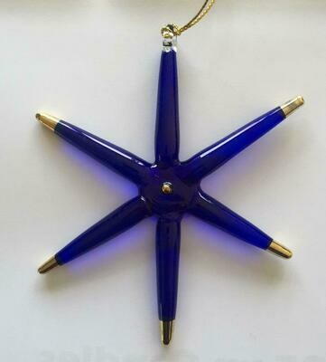Blue Star with Gold Tips