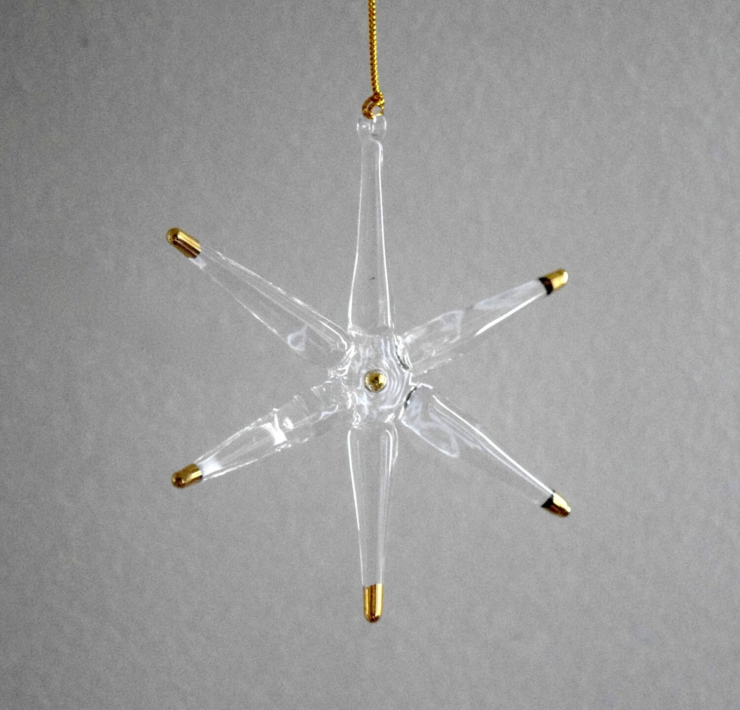 Transparent Star with Gold Tips