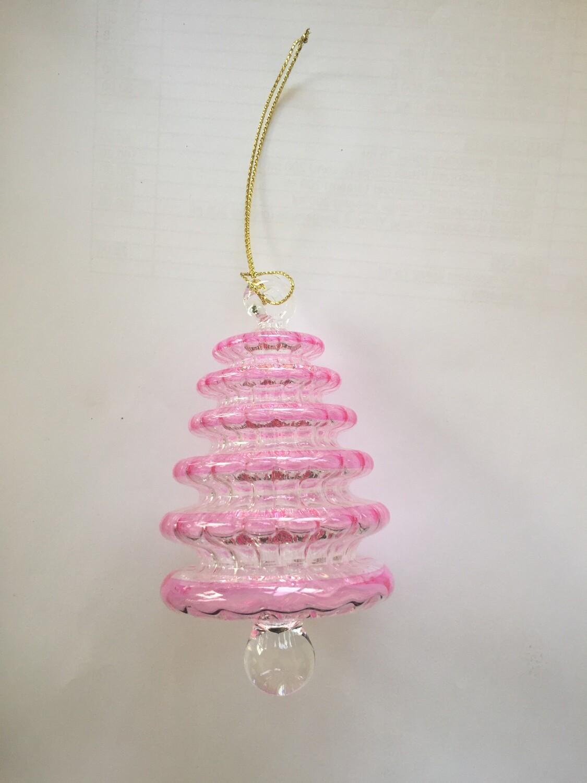 Fuchsia Tree Glass Ornament
