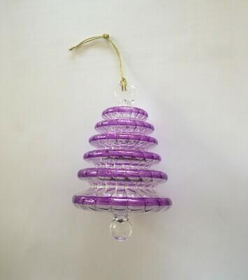 Purple Tree Glass Ornament