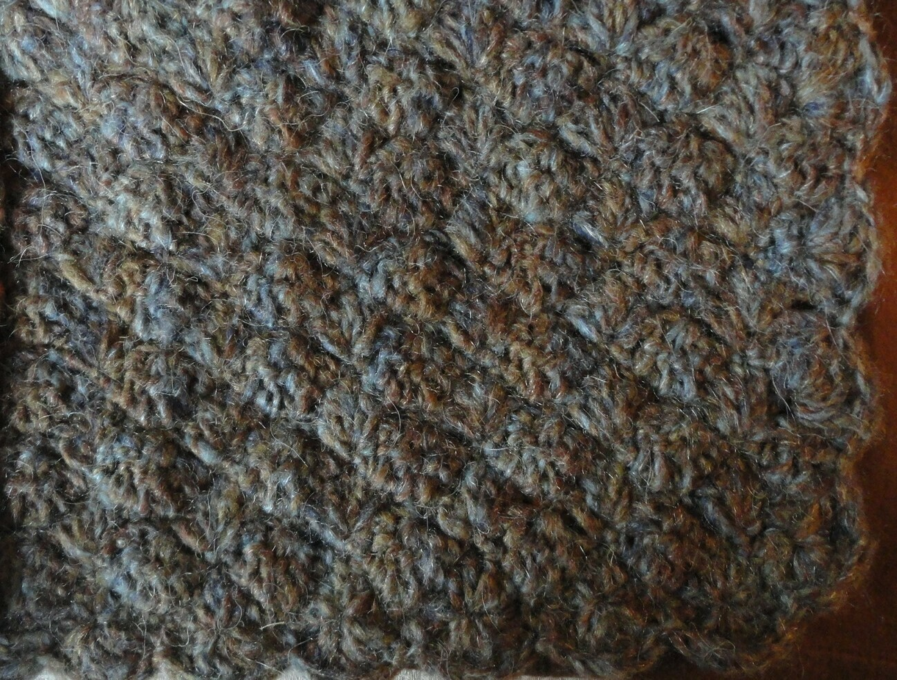 Mini Blanket: Blue, Brown & Grey Mohair