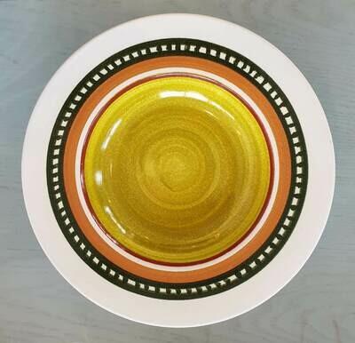 Semi Deep Plate: Pea Colored Center 1