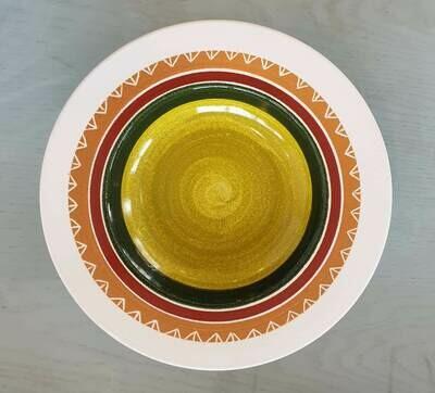 Semi Deep Plate: Pea Colored Center 3