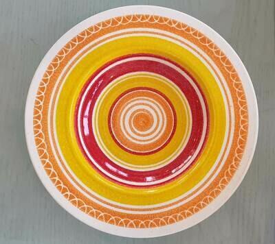 Semi Deep Orange, Red & Yellow Plate