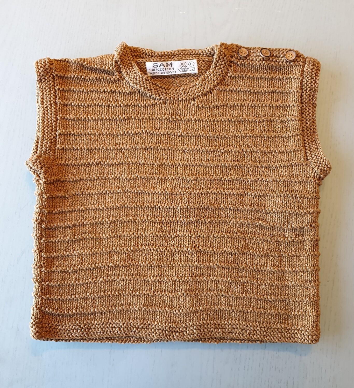 Caramel Brown Ribbed Vest (Large)