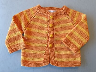 Yellow & Orange Striped Jacket (Small)