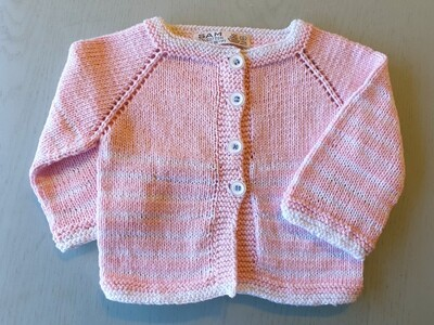 Pink & White Striped Jacket (Small)