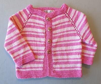 Fuchsia & Pink Striped Jacket (Medium/Medium+)