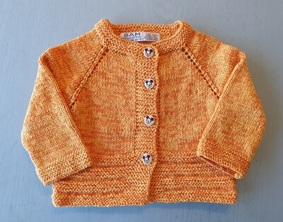 Yellow & Orange Mix Jacket- Ribbed Bottom (Small/Large)