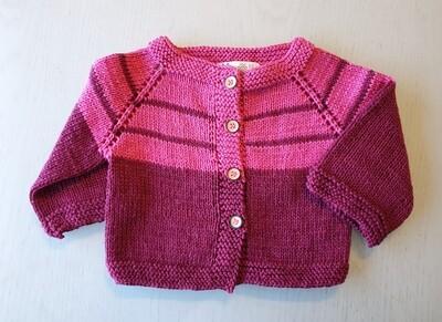 Fuchsia & Burgundy Striped Jacket (Small/Medium)