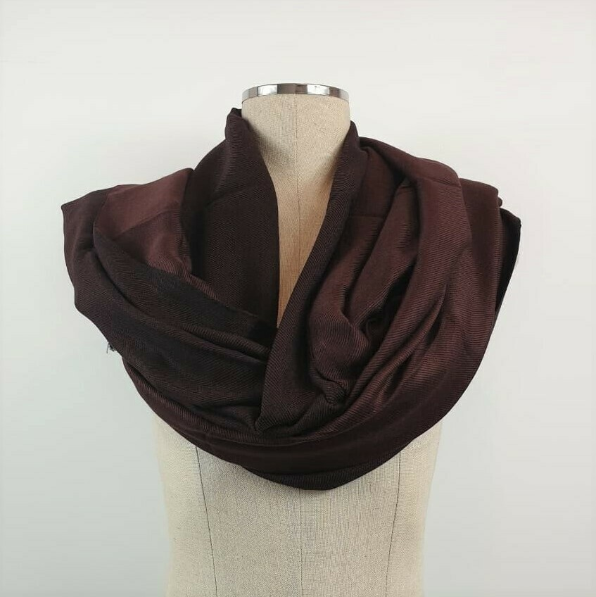 Doubleface Shawl Brown & Black
