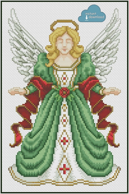 Christmas Angel Cross Stitch Pattern PDF + XSD. Instant Download