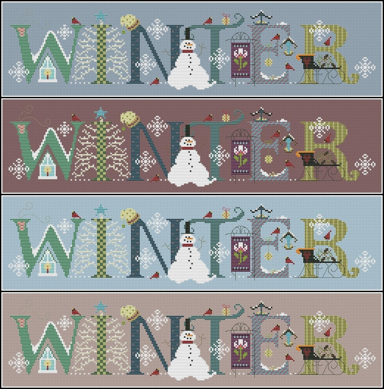 Winter Cross Stitch Pattern PDF + XSD. Instant Download. FREE