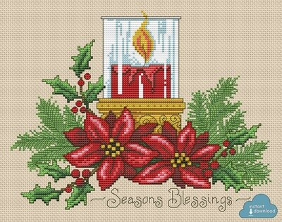 Seasons Blessings Cross Stitch Pattern PDF Color + XSD. Instant Download.