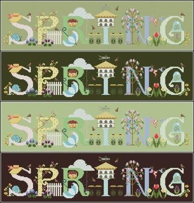 Spring Cross Stitch Pattern PDF + XSD. Instant Download. FREE