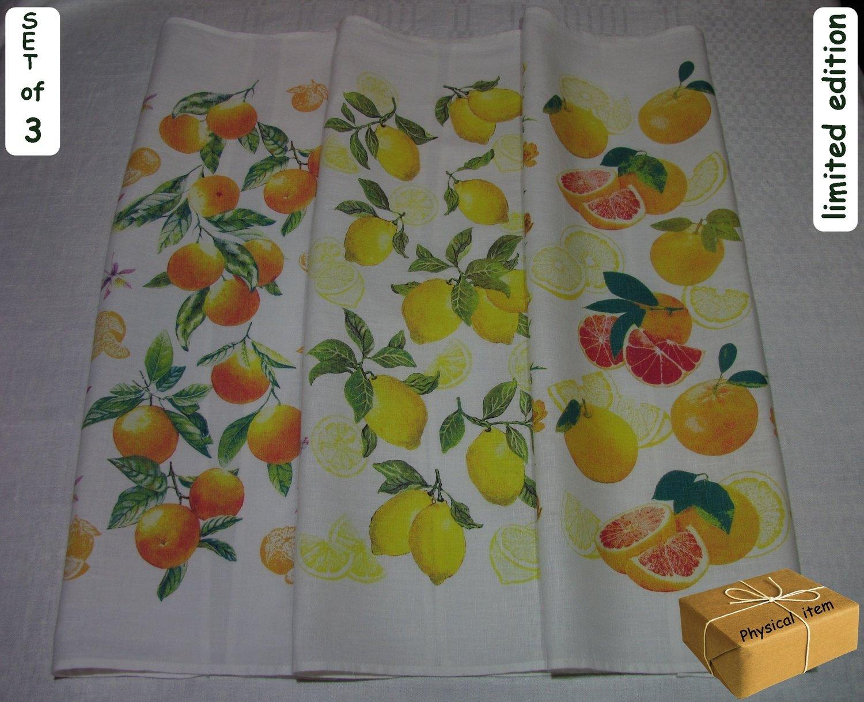 """""""Citrus Burst"""". Kitchen Towels Set (3 pieces)"""