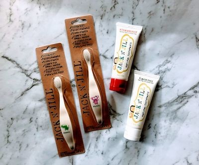 Jack n Jill Toothpaste and Toothbrush