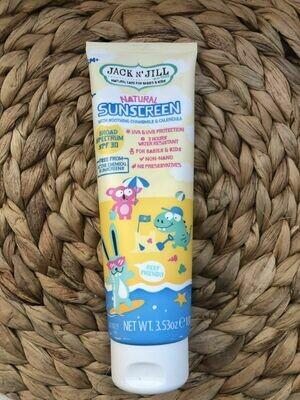 Jack n Jill Kids Natural Sunscreen SPF30 100ml