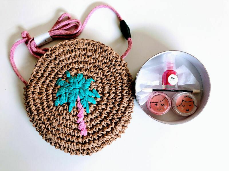 Play Makeup Gift Bag - Straw Palm Tree 2