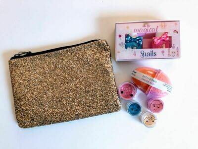 Play Makeup Gift Bag - Gold Glitter