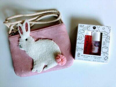 Play Makeup Gift Bag - Pink Pom Pom Bunny