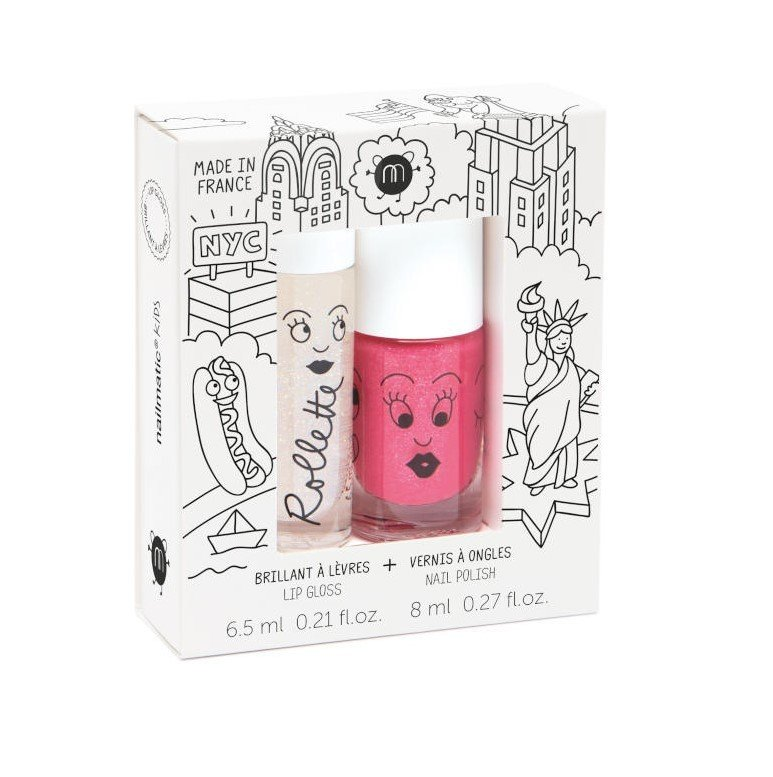 Nailmatic kids lip gloss and nail polish - New York