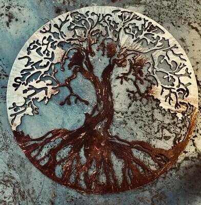 Tree of Life, Metal Art, Living Room Decor, Metal Wall Art, Scrap Metal Art, Metal Art Work, Metal Tree Wall Decor, Unique Gifts, Patina