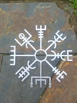 Vegvisir   Algiz Rune   Viking Wall Art   Viking Runes   Viking Art   Viking Decor   Pagan Decor